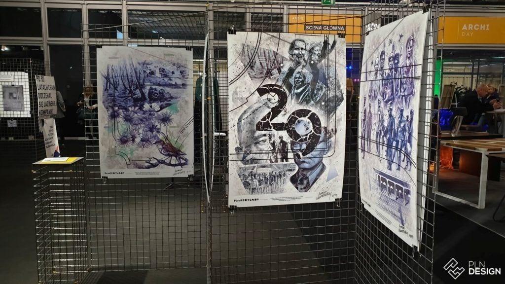 Międzynarodowe targi wnętrz Warsaw Home 2019 - plakaty na wystawie School of Form Uniwersytetu SWPS