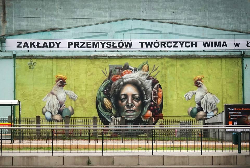 Murale czyli piękny romans sztuki z miastem - NOMAD CLAN Mokosh - 2017 - photo by Bokehgo