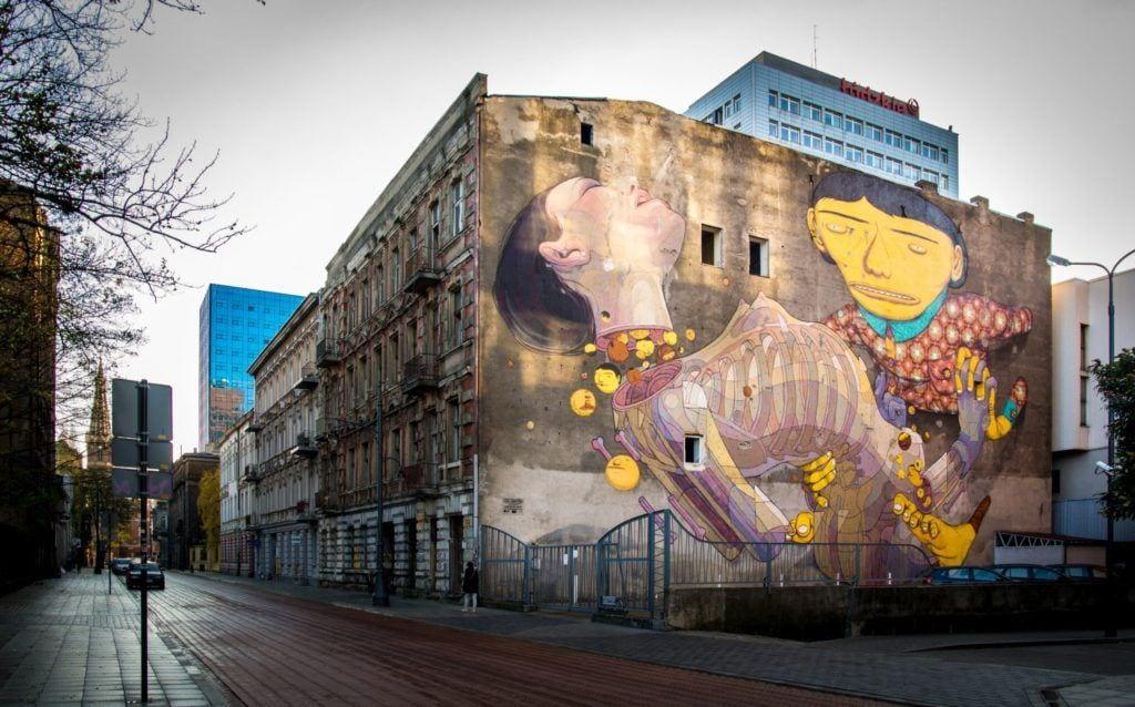 Murale czyli piękny romans sztuki z miastem - OS GEMEOS & ARYZ - 2012 - Łódź - photo from the Urban Forms Archive