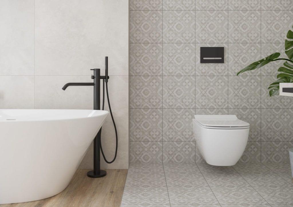 Patchwork Concept - nowa kolekcja płytek ceramicznych od Ceramika Opoczno - Kobe Light grey