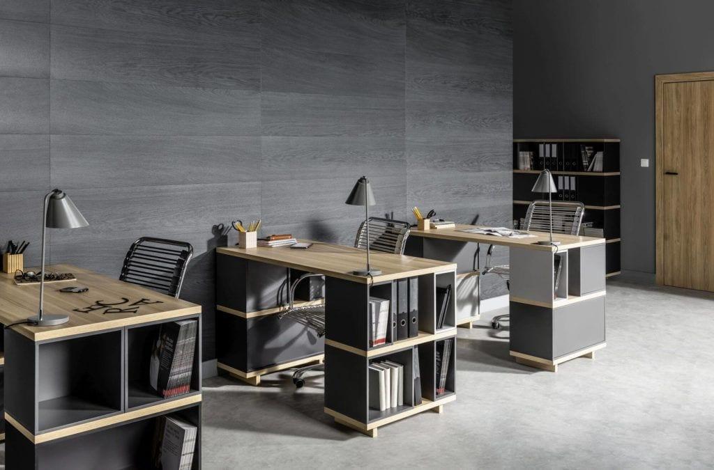 Produkty marki VOX do przestrzeni biurowych - Kerradeco - Wood Carbon