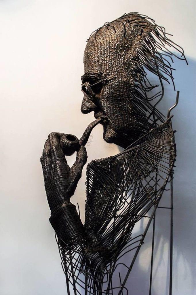 Rumuński artysta - Darius Hulea i rzeźby z drutu