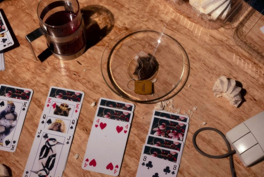 Węże i Magnolie - malowane karty do gry Jagny Wróblewskiej