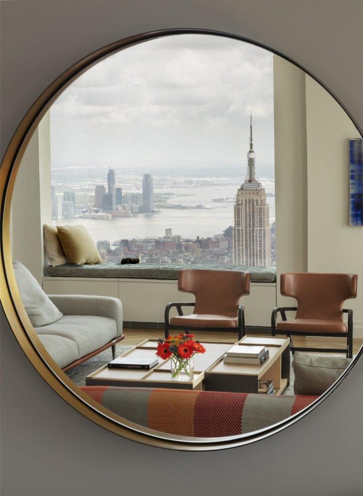 Apartament przy 432 Park Avenue w Nowym Yorku projekt John Beckmann - Axis Mundi - widok z okna na Nowy York