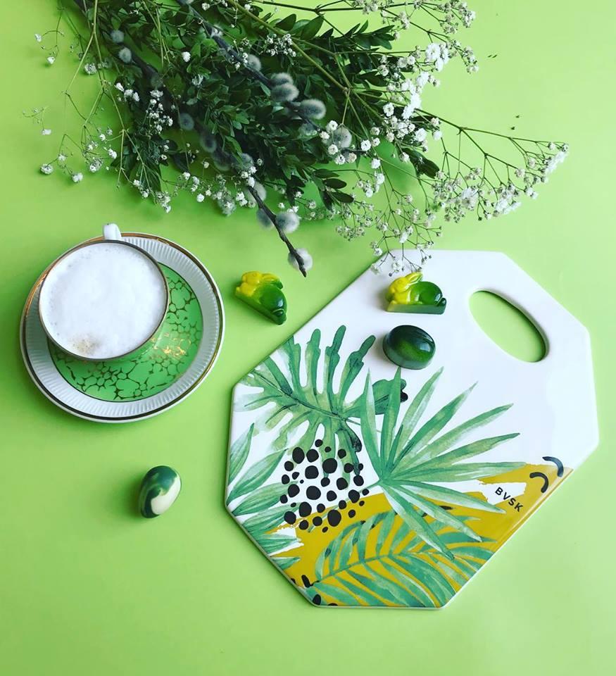 BVSK: ręcznie wyrabiane deski ceramiczne - Julia Boguslavskaya - Kaja-Dutka - Jungle-Green-plndesign