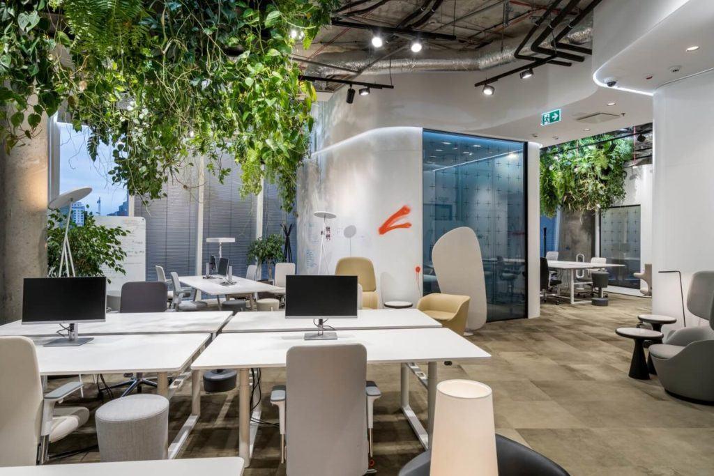 Biuro RBL_ - projekt Studio Robert Majkut Design dla Alior Bank - strefa pracy