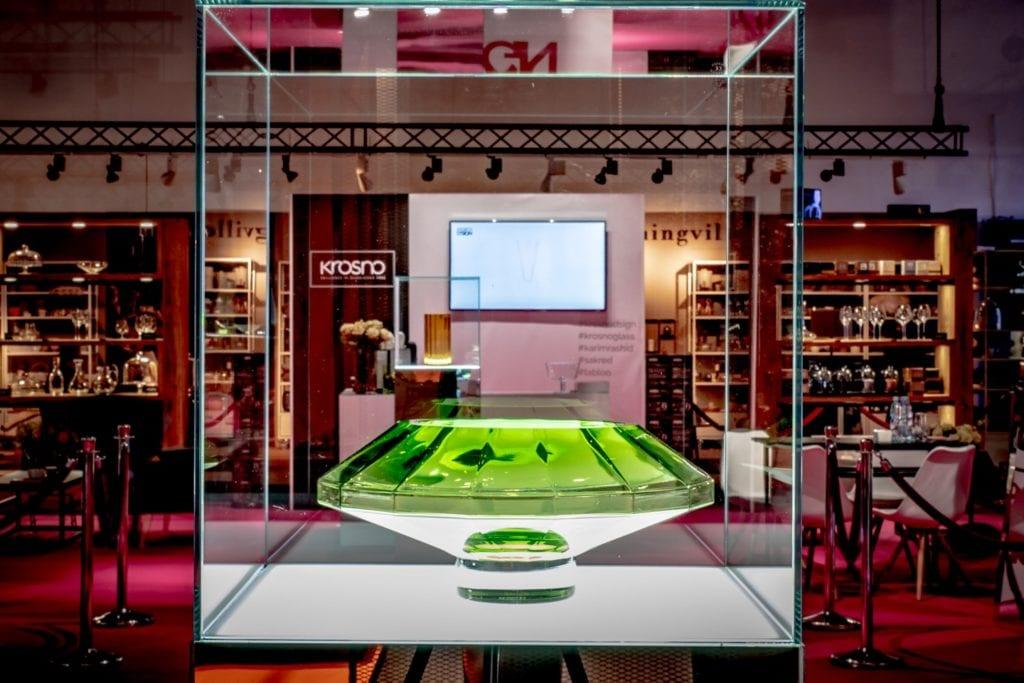 Międzynarodowe targi wyposażenia wnętrz Warsaw Home stoisko marki - Krosno-Glass-plndesign