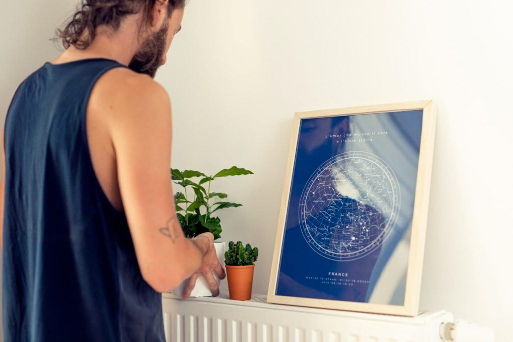 Plakaty Himaps - dekoracje ścienne pełne wspomnień - niebieska mapa nieba