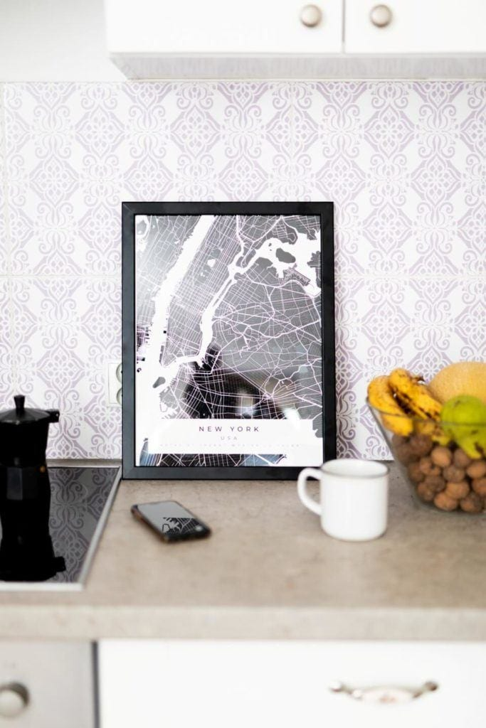 Plakaty Himaps - dekoracje ścienne pełne wspomnień - plakat czarna mapa