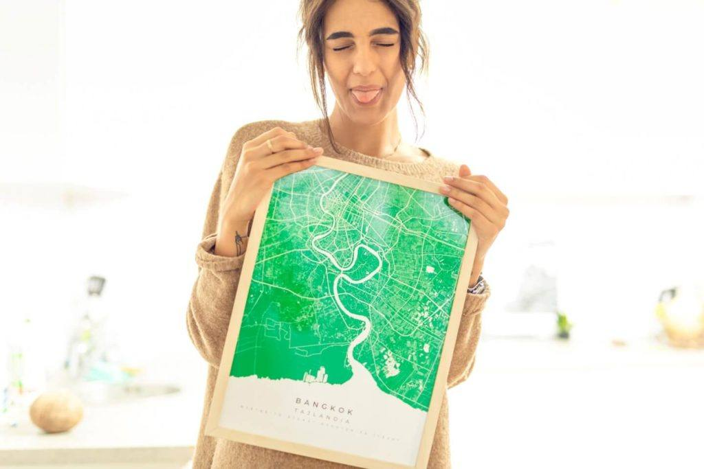 Plakaty Himaps - dekoracje ścienne pełne wspomnień - plakat zielona mapa