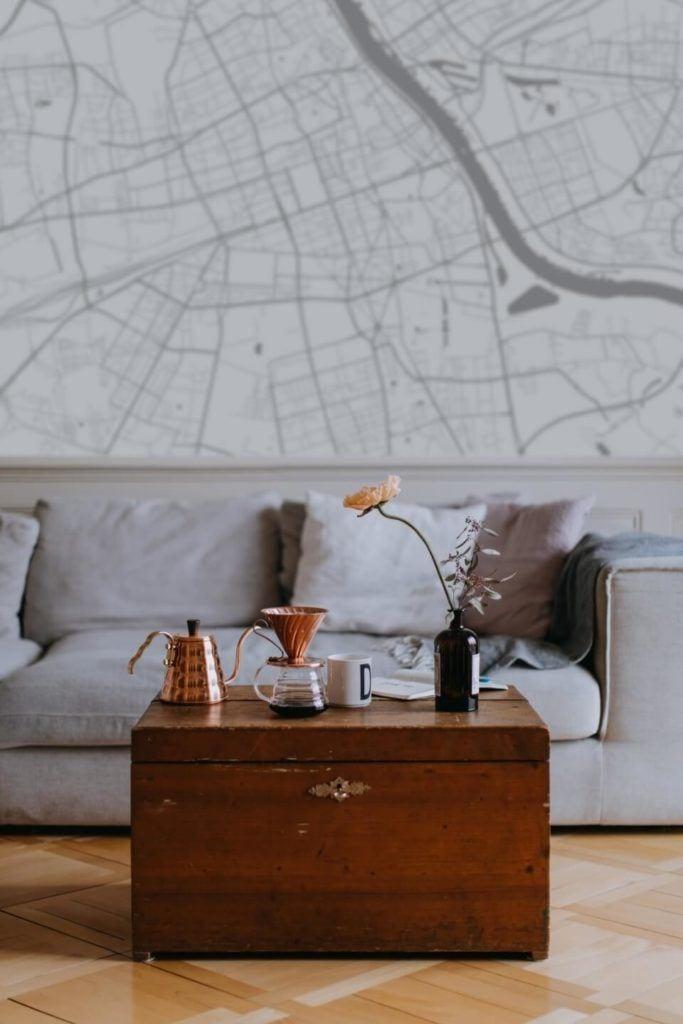 Plakaty Himaps - dekoracje ścienne pełne wspomnień - tapeta z mapą na ścianie