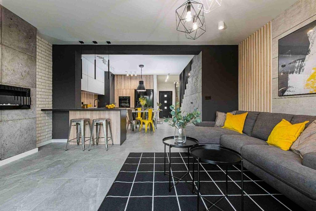 Pracownia Dobry Układ Sandra Białkowska i apartament w stylu soft loft - duży salon
