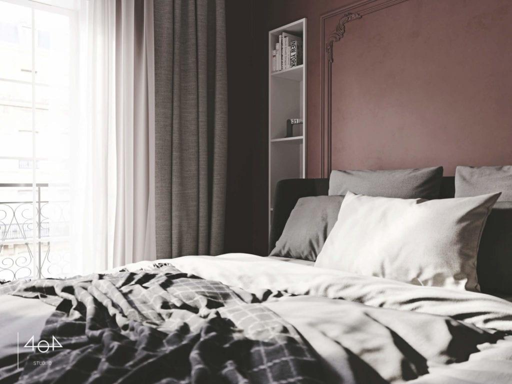 Projekt sypialni i łazienki od pracowni 404 Stud.io - dom w Toruniu - Aleksandra Franczak