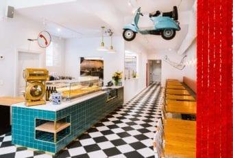Tortello – lokal w Chicago projektu Siren Betty Design