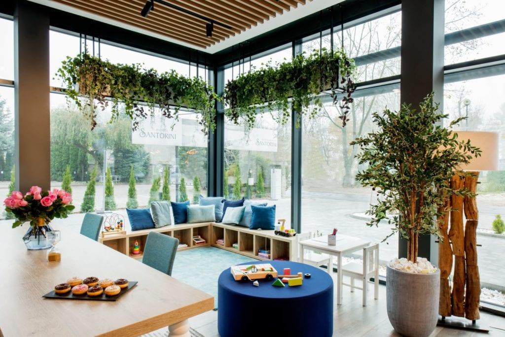 Wnętrza hotelu Ibis Styles Kraków Santorini projektu pracowni ILIARD