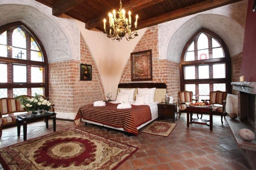 Hotel Zamek Gniew - hotel, apartamenty, restauracja, basen, SPA - wnętrza apartamentu