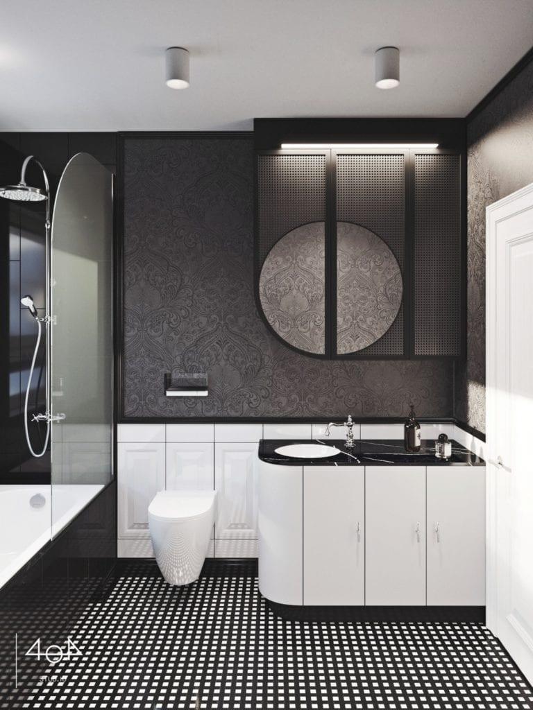 404 Stud.io i projekt kuchni oraz łazienki w poznańskiej kamienicy - łazienka w mieszkaniu