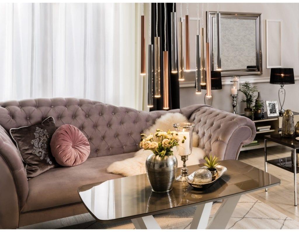 Dodatki do mieszkania w stylu glamour