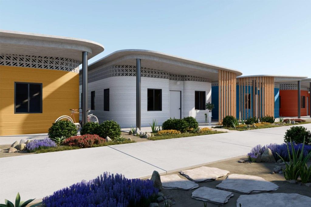 Domy z drukarki 3D w miejscowości Tabasco w południowym Meksyku - projekt New Story ICON i fuseproject - osiedle domów