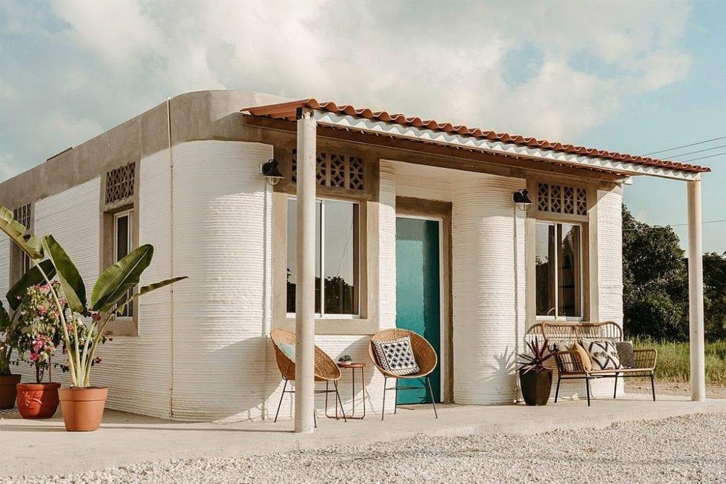 Domy z drukarki 3D w miejscowości Tabasco w południowym Meksyku - projekt New Story ICON i fuseproject