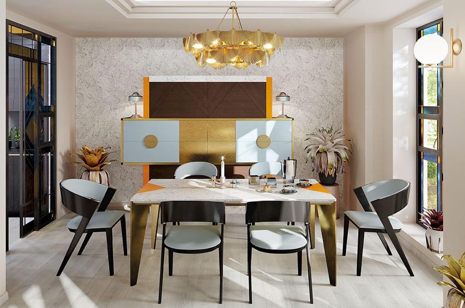 Jak powiększyć małe mieszkanie? 7 porad od projektantów - pokój ze stołem i kompletem krzeseł