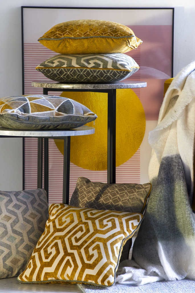 Kolekcja Geometric Pastels od Miloo Home - kolorowe poduszki