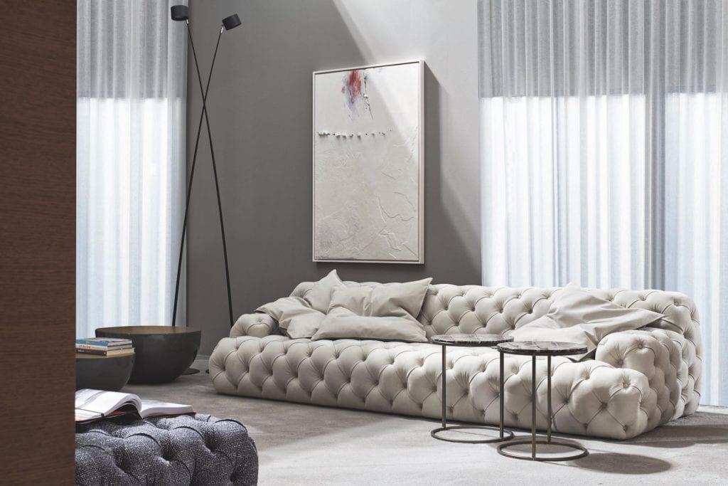 Meridiani - meble włoskiej marki - Beżowa sofa Norton