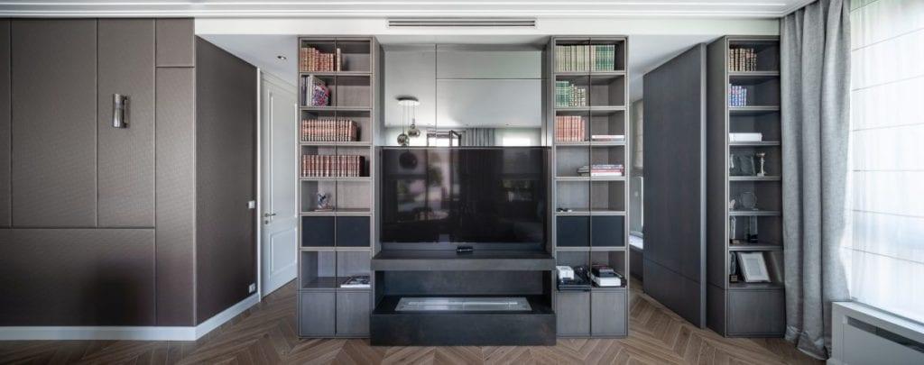 Nowoczesny i komfortowy apartament projektu Pauliny Taff - salon w warszawskim apartamencie