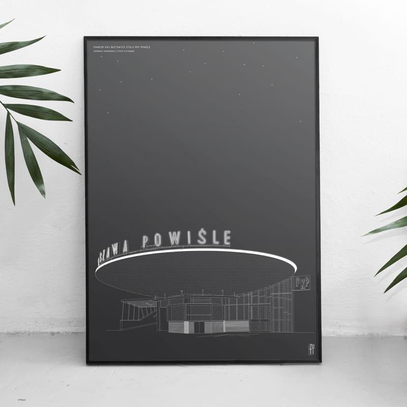 Plakaty architektoniczne projektu Zuti Grafika - Gosia Zboina - plakat Warszawa Powiśle