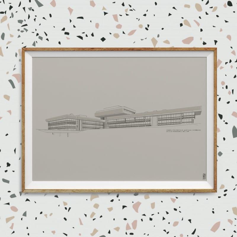 Plakaty architektoniczne projektu Zuti Grafika - Gosia Zboina - plakat Akademia sztuk pięknych