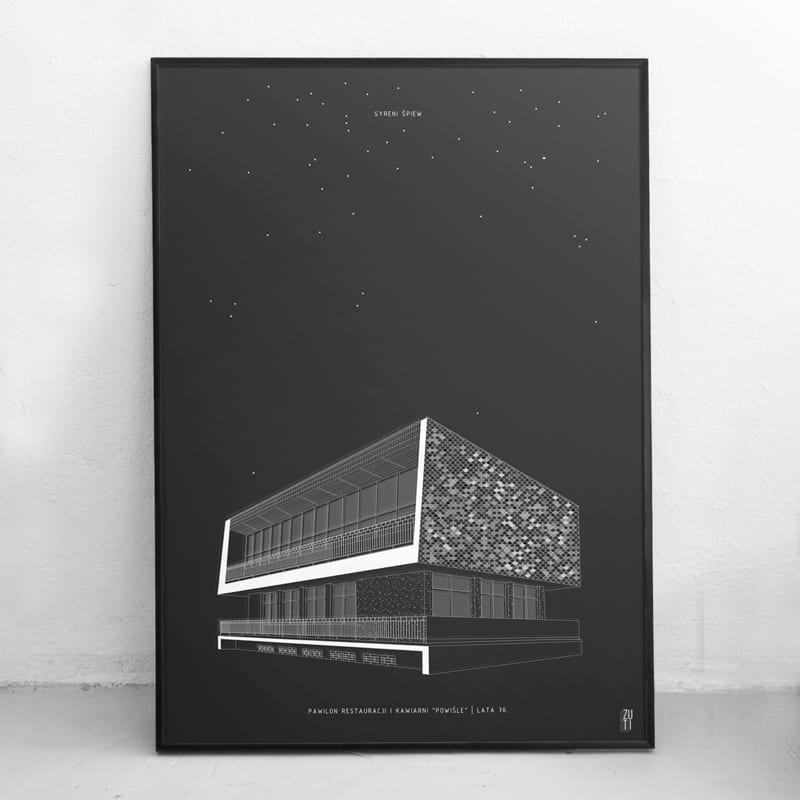 Plakaty architektoniczne projektu Zuti Grafika - Gosia Zboina - plakat Syreni śpiew