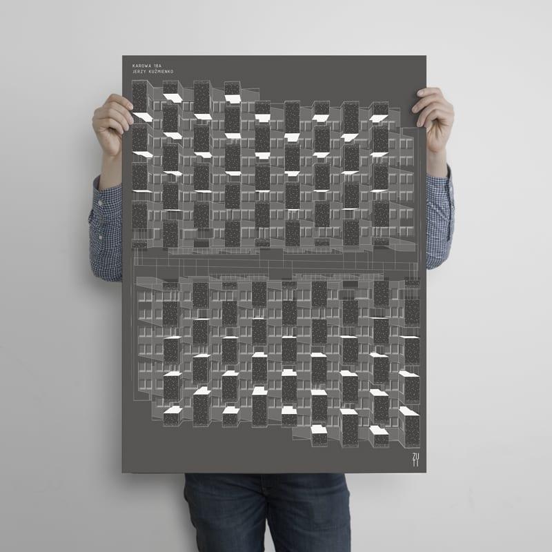 Plakaty architektoniczne projektu Zuti Grafika - Gosia Zboina - plakat Karowa