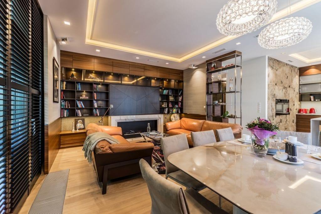 Pracownia Viva Design i luksusowy apartament w Warszawie - salon