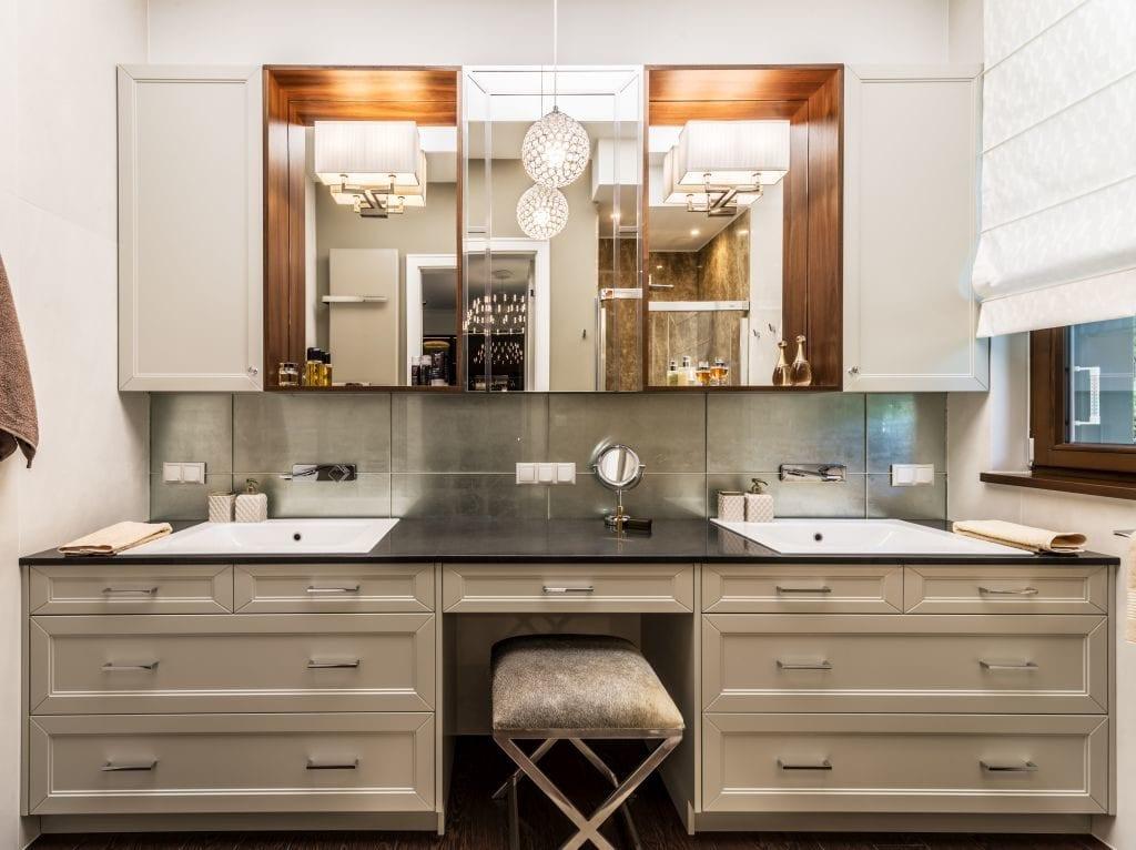 Pracownia Viva Design i luksusowy apartament w Warszawie - łazienka