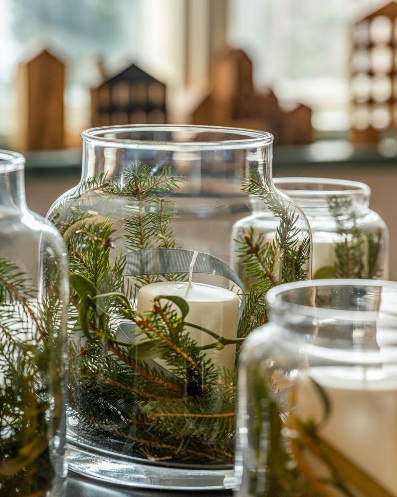 Świętuj po swojemu - dekoracyjne dodatki do mieszkania - las w słoiku