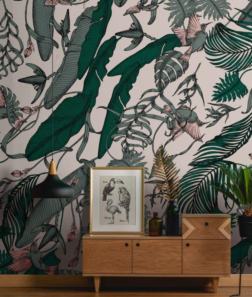 Trendy w aranżacji ścian - Tapety Tecnografica - wzór Tropical Foliage
