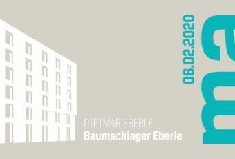 Dietmar Eberle i wykład z cyklu Mistrzowie Architektury
