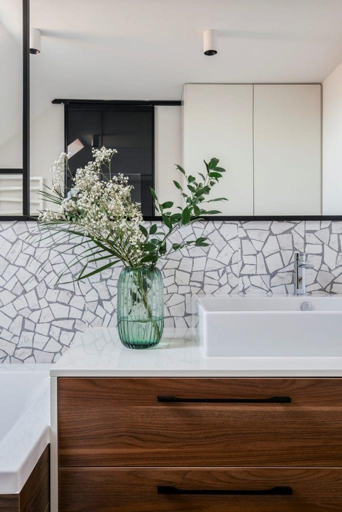Dom w Suchym Dworze - dekoracje w łazience