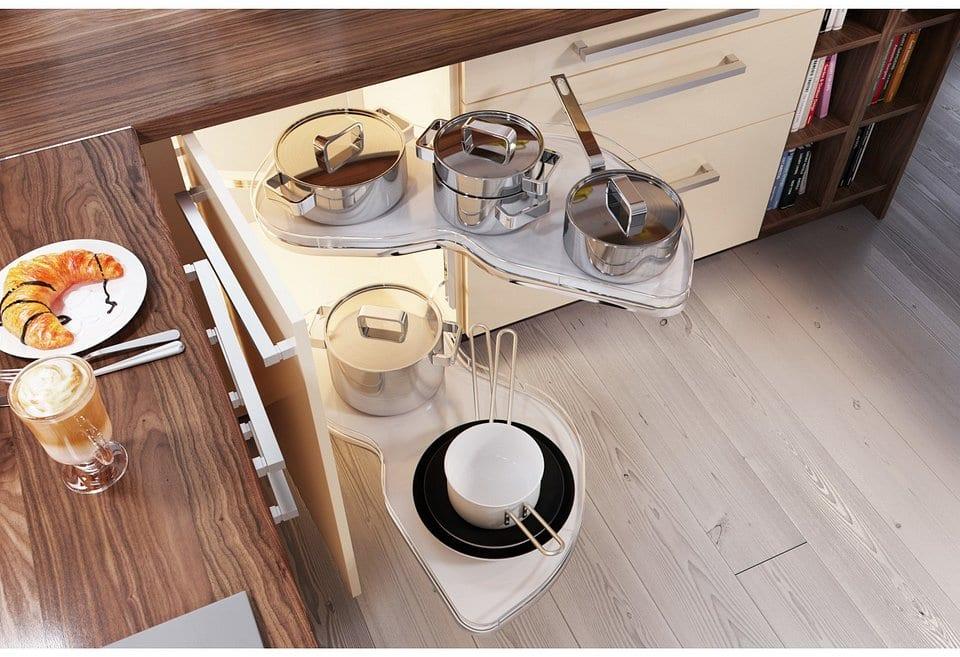 Jak uporządkować wnętrze mieszkania - porady, inspiracje - wygodne przechowywanie artykułów kuchennych