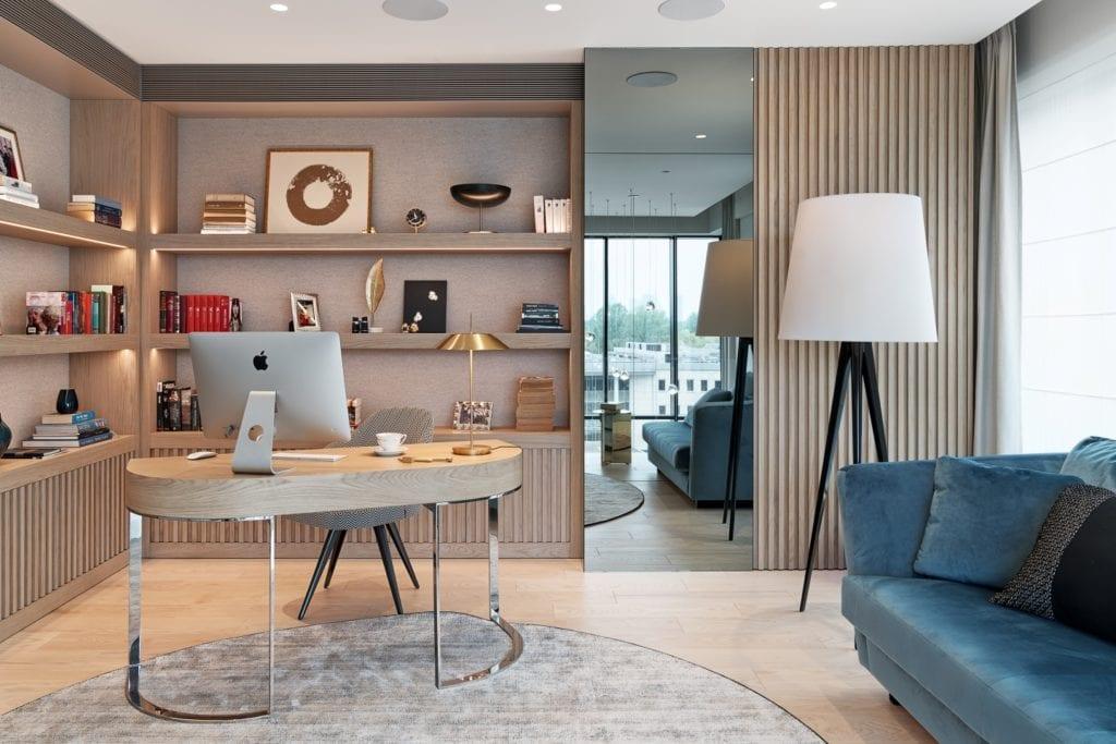 Katarzyna Kraszewska i warszawski apartament w stylu nowojorskim - miejsce do pracy