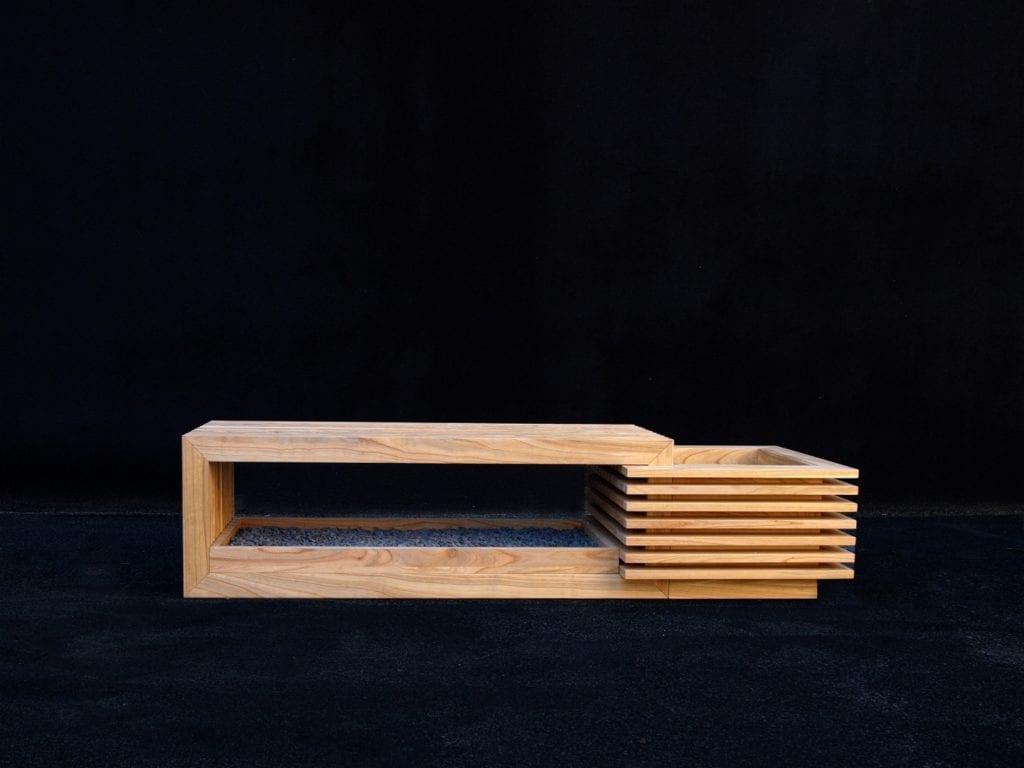 Ławka Tonuki projektu Katarzyny Dzięcioł