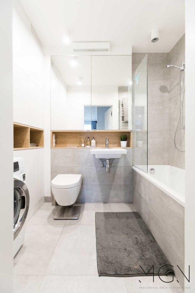 MGN Pracownia Architektoniczna i projekt jasnej łazienki
