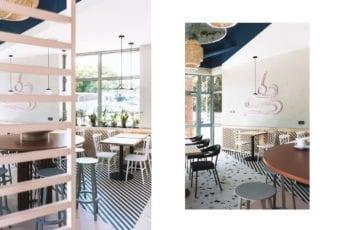 SweetFit & Eat – piękna kawiarnia projektu 74STUDIO