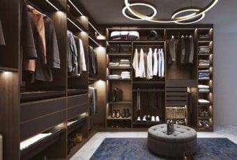 Komandor i garderoby typu walk-in closet