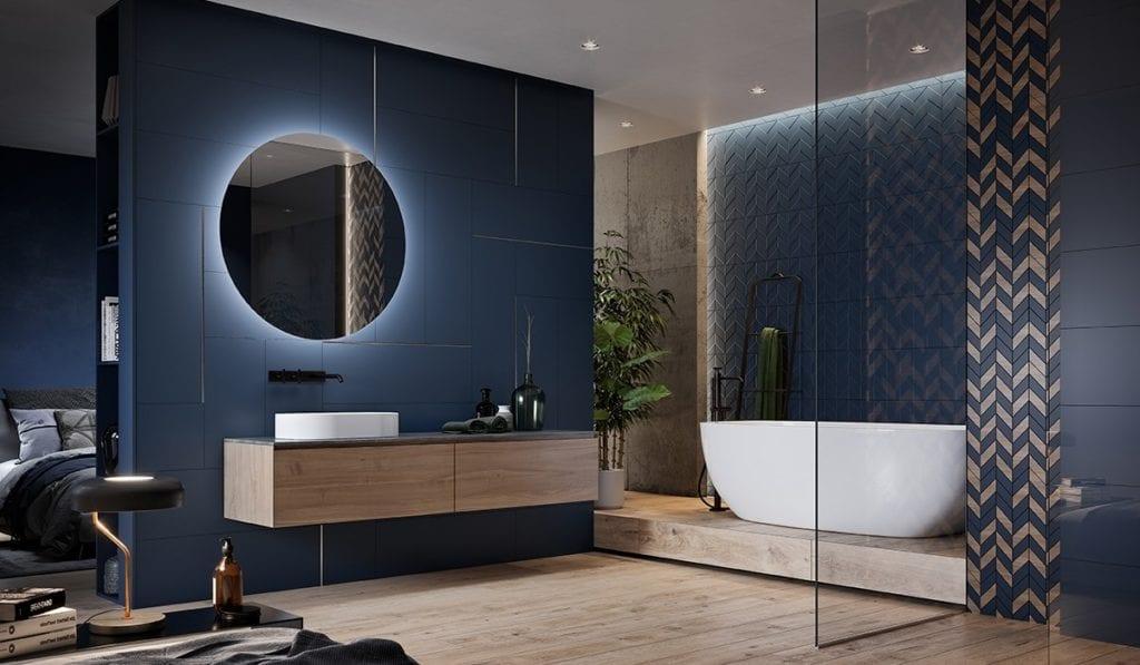 Love you navy - bathroom - Perła Ceramiki Projektantów – użytkowników CAD Decor 2019