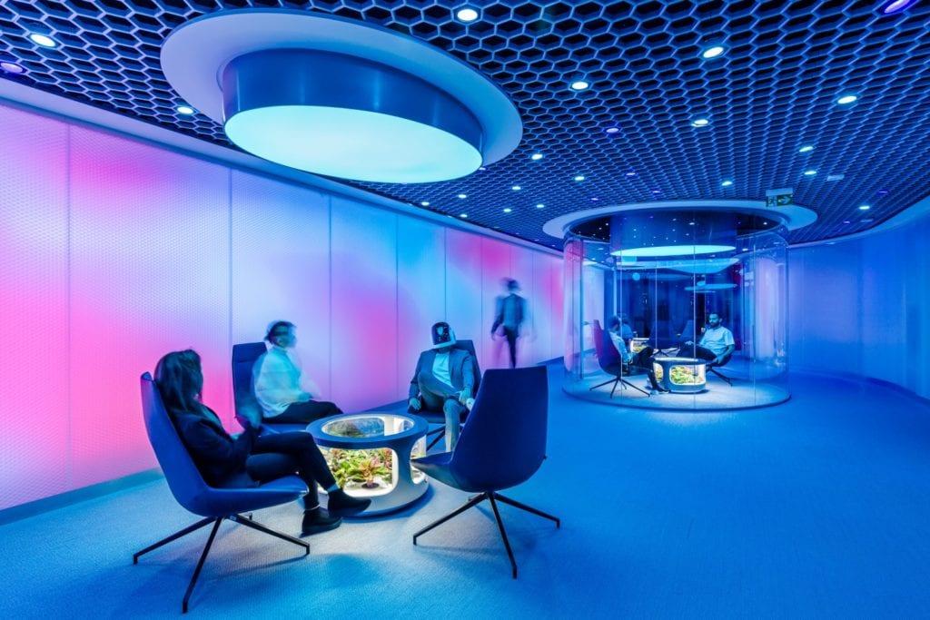 Nordea Horizon - futurystyczne centrum IT w Warszawie - projekt pracownia Workplace