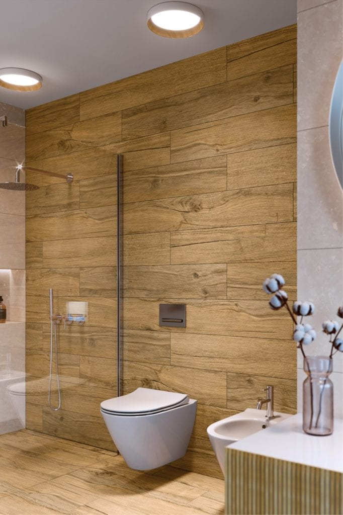 Organic Wood - płytki inspirowane naturalnym drewnem od marki Cersanit - BERKWOOD BEIGE