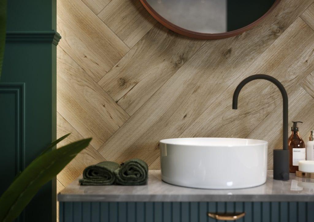 Organic Wood - płytki inspirowane naturalnym drewnem od marki Cersanit - DEVONWOOD BEIGE