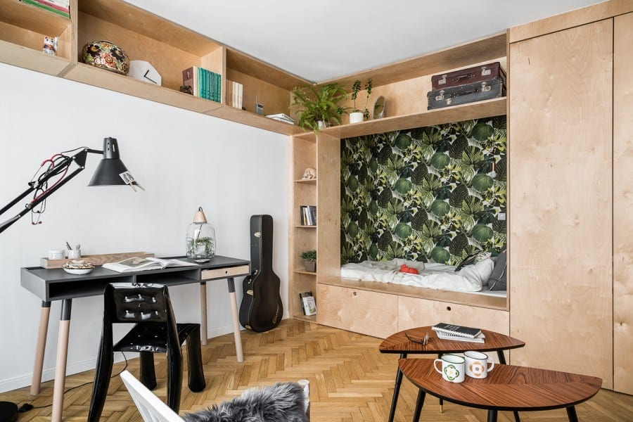 Wybierz najlepszą realizację 2019 - plebiscyt Polska Architektura XXL - Studencki luz w aranżacji kawalerki w Gdańsku, Studio Kreatura