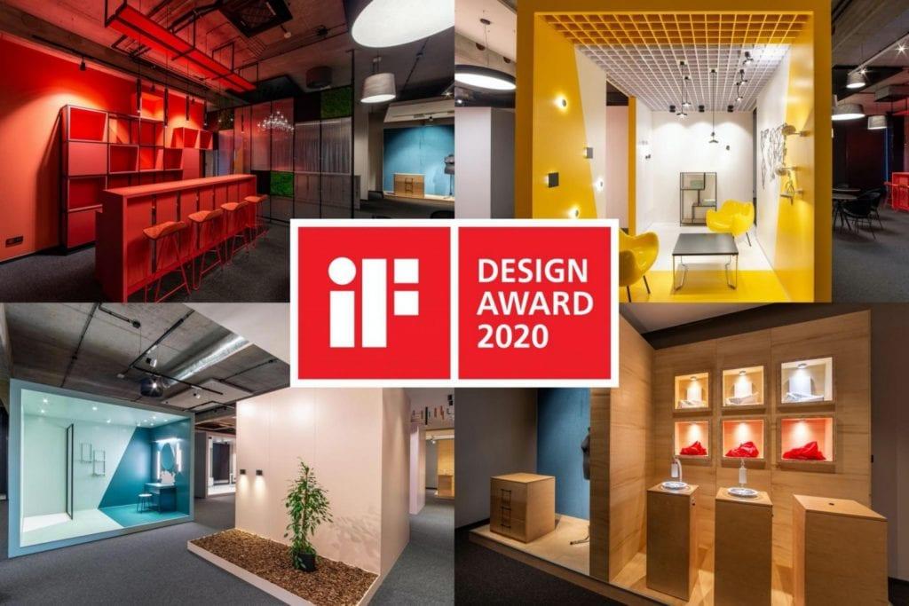 Showroom polskiej marki AQForm z nagrodą iF DESIGN AWARD 2020